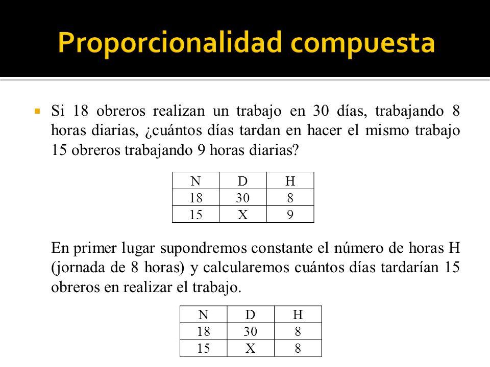 Proporcionalidad compuesta