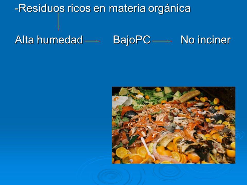 -Residuos ricos en materia orgánica