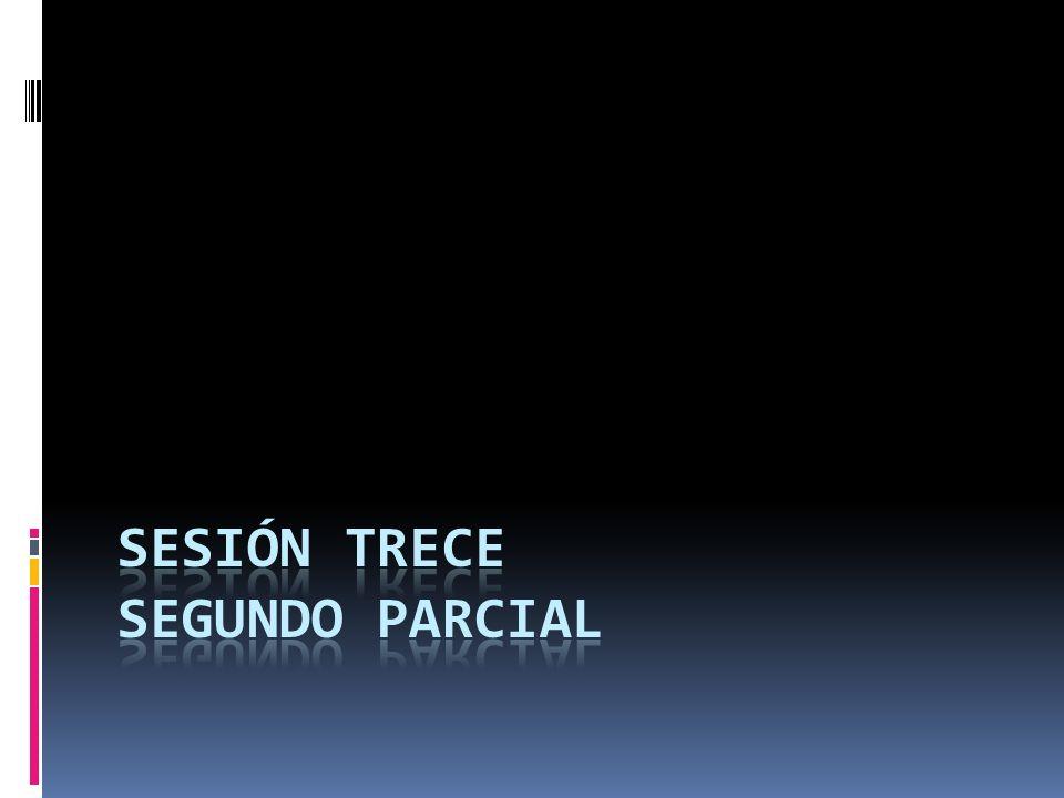 SESIÓN TRECE SEGUNDO PARCIAL