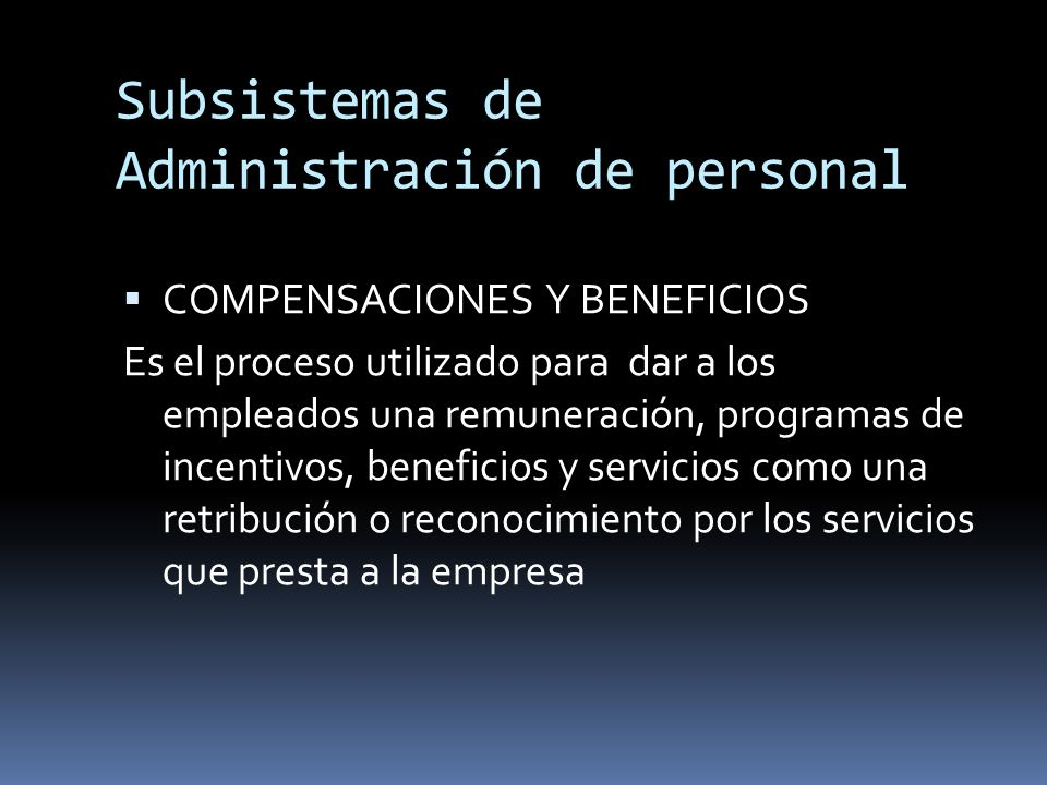 Subsistemas de Administración de personal