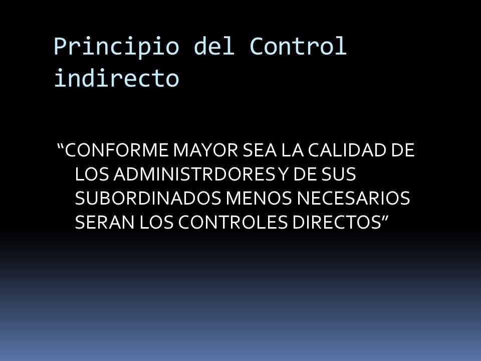 Principio del Control indirecto