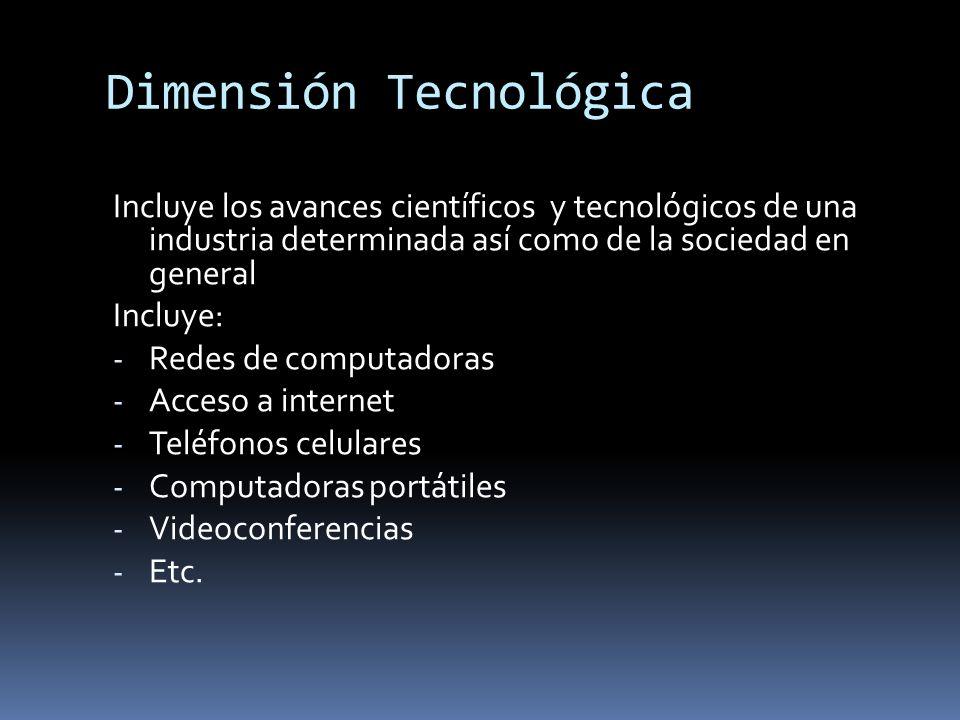 Dimensión Tecnológica