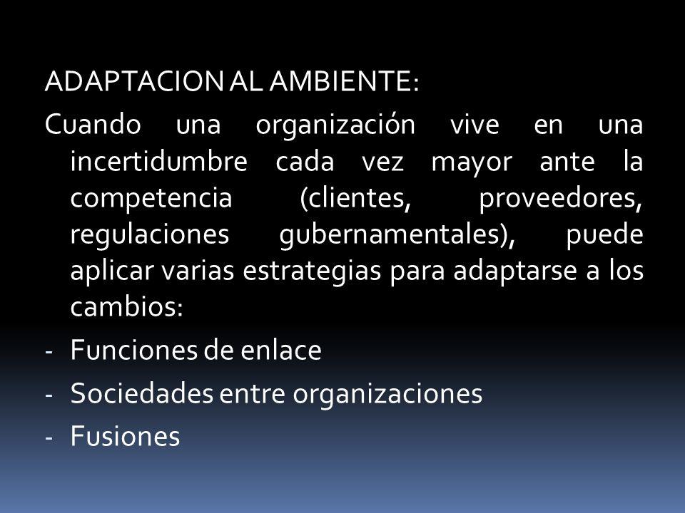 ADAPTACION AL AMBIENTE: