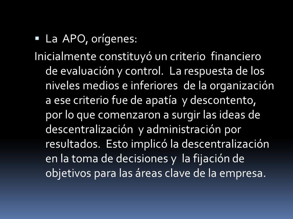 La APO, orígenes: