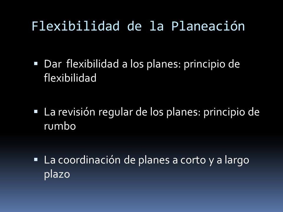 Flexibilidad de la Planeación