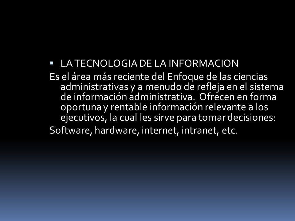 LA TECNOLOGIA DE LA INFORMACION