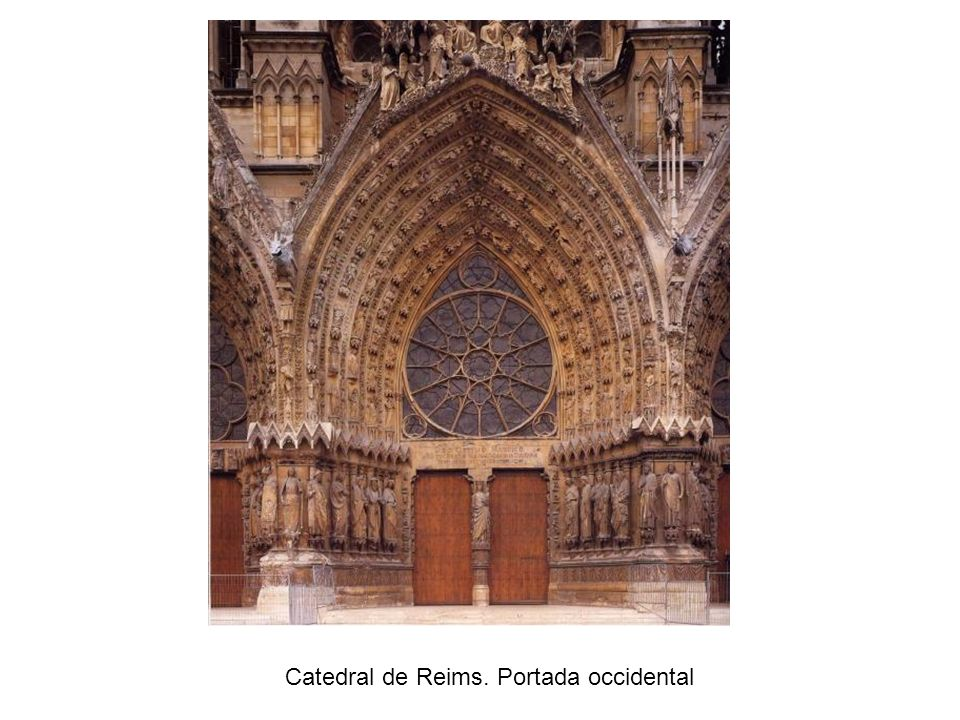 Catedral de Reims. Portada occidental