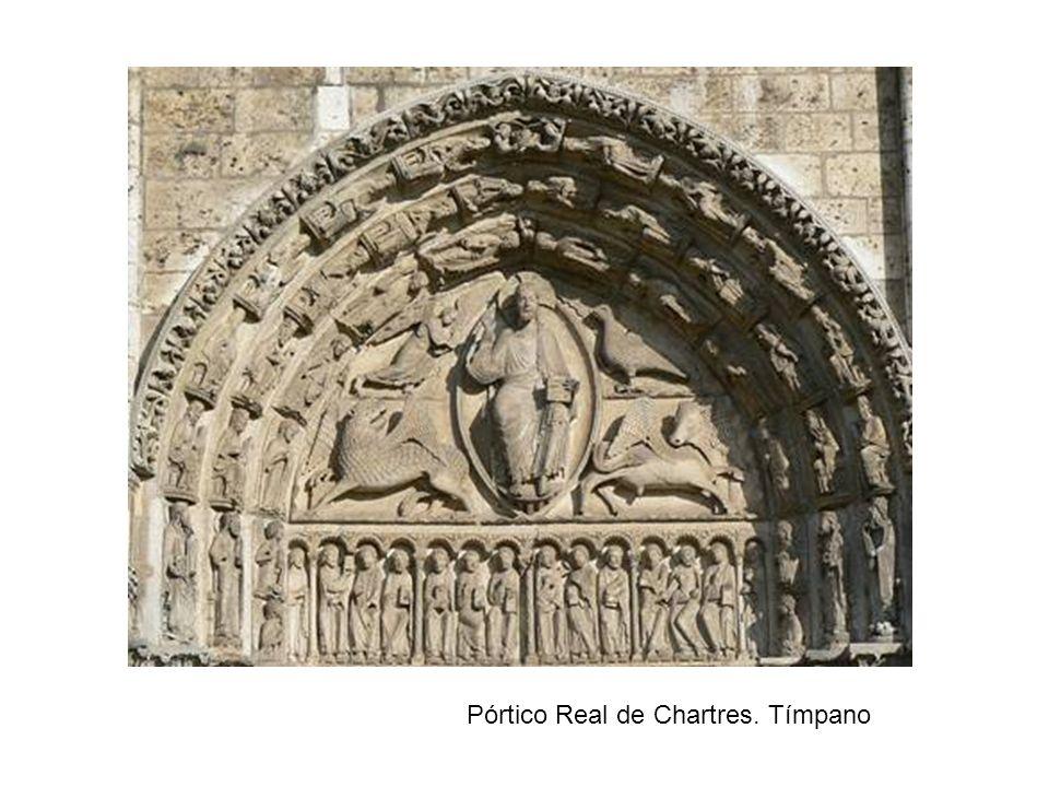 Pórtico Real de Chartres. Tímpano