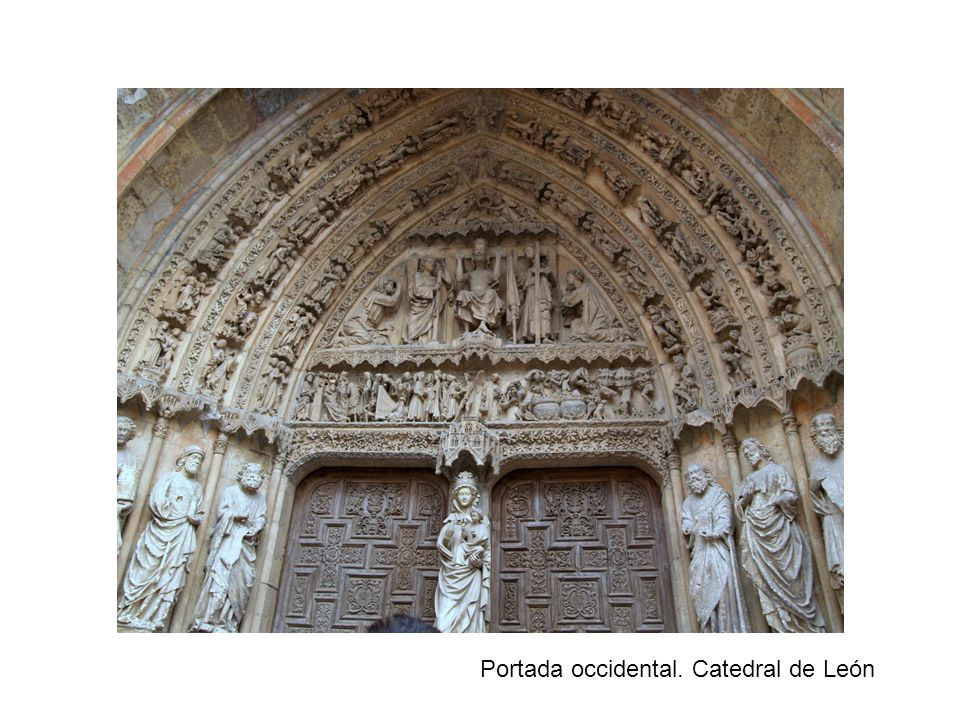 Portada occidental. Catedral de León