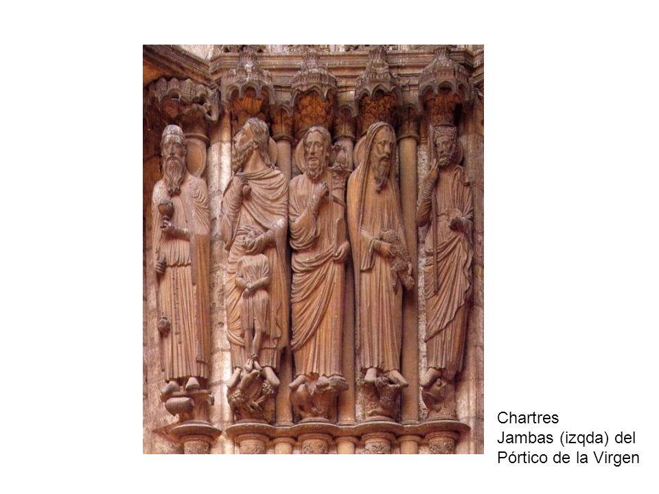 Chartres Jambas (izqda) del Pórtico de la Virgen