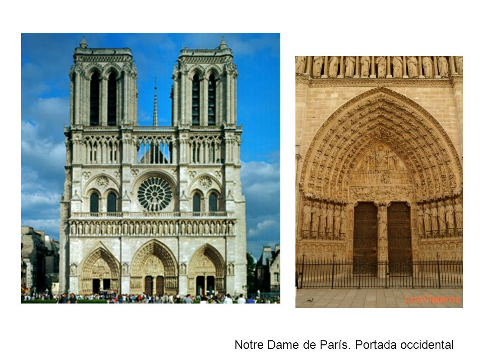 Notre Dame de París. Portada occidental