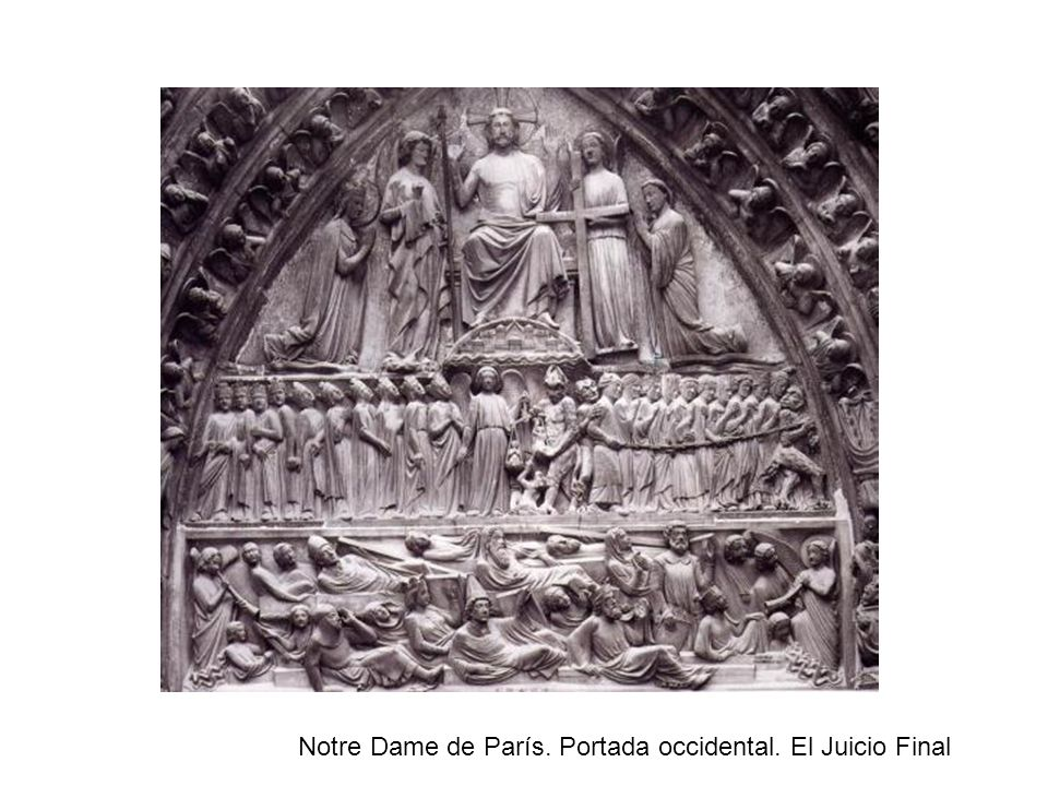 Notre Dame de París. Portada occidental. El Juicio Final