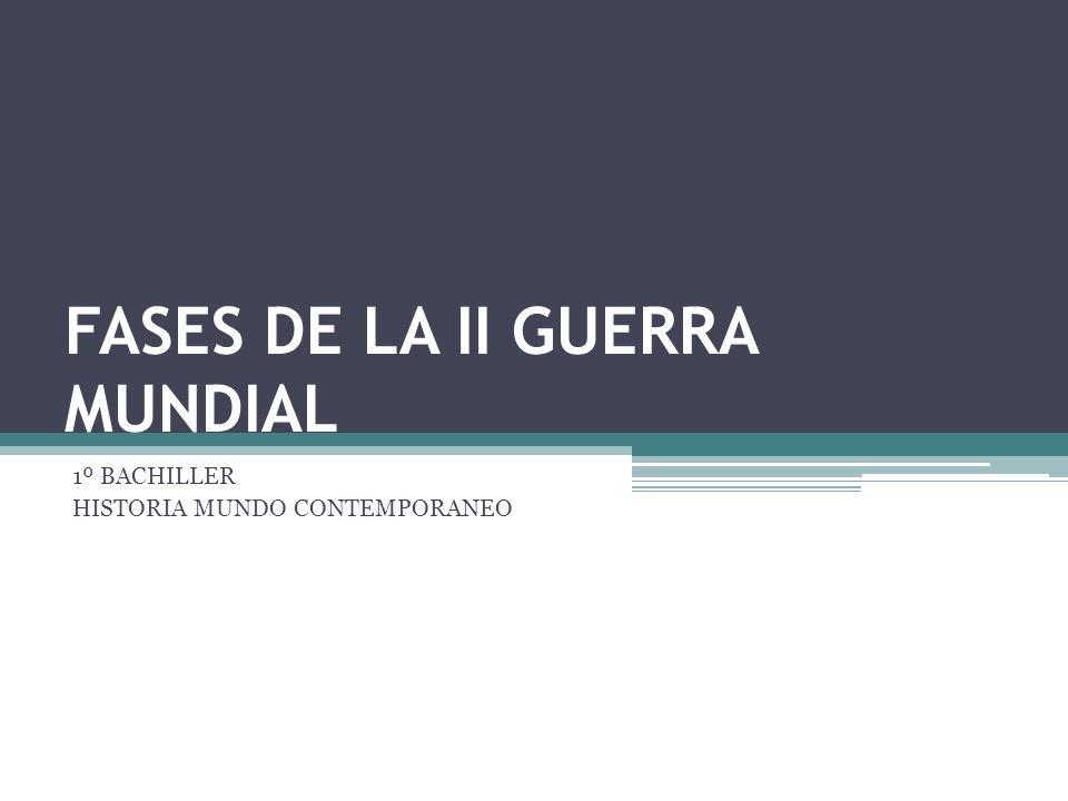 FASES DE LA II GUERRA MUNDIAL