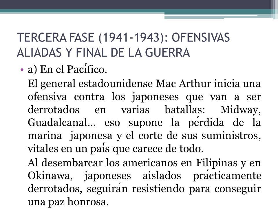 TERCERA FASE (1941-1943): OFENSIVAS ALIADAS Y FINAL DE LA GUERRA