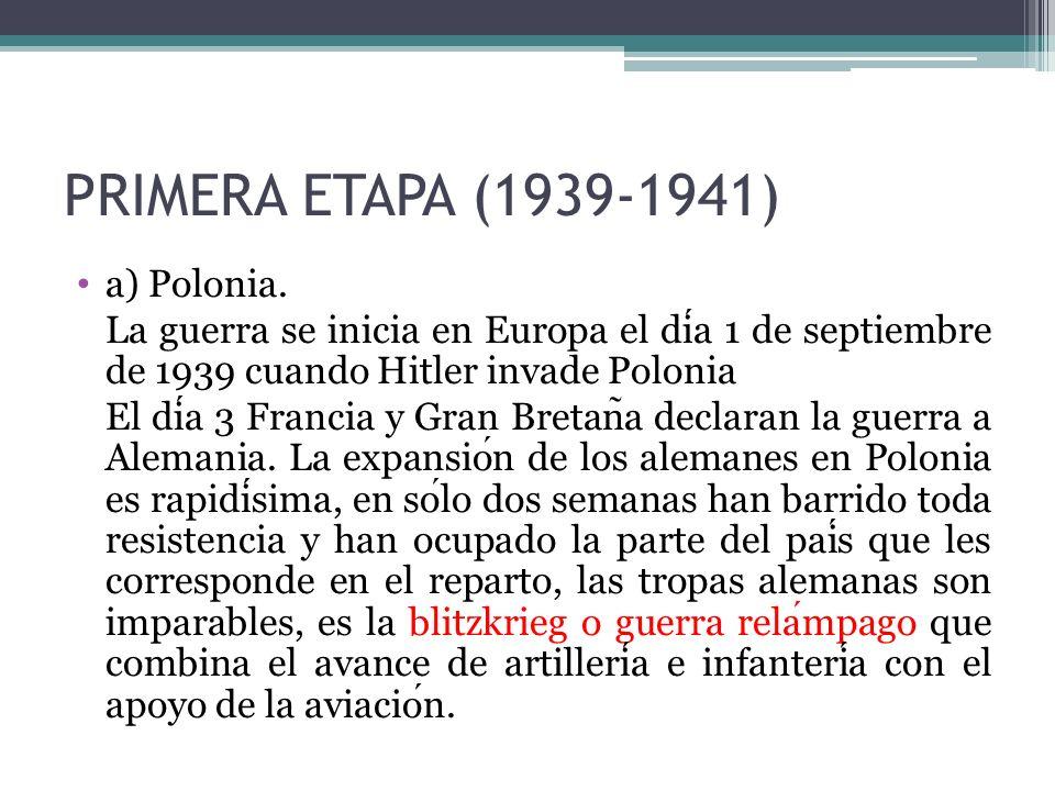 PRIMERA ETAPA (1939-1941) a) Polonia.