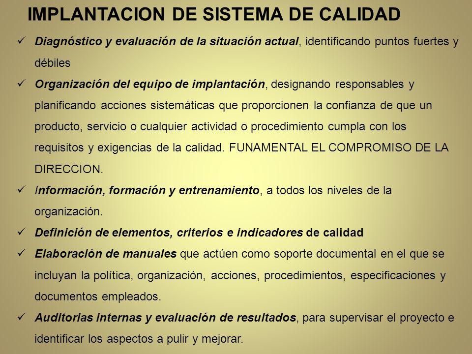 IMPLANTACION DE SISTEMA DE CALIDAD