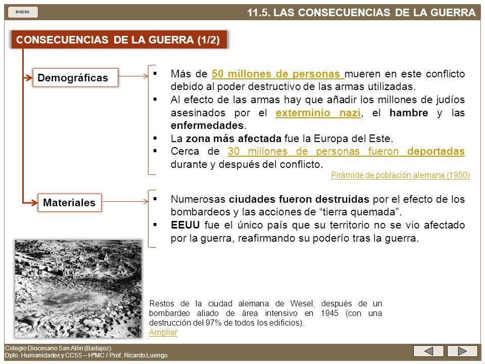 CONSECUENCIAS DE LA GUERRA (1/2)