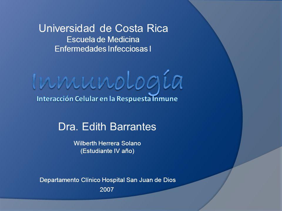 Inmunología Interacción Celular en la Respuesta Inmune