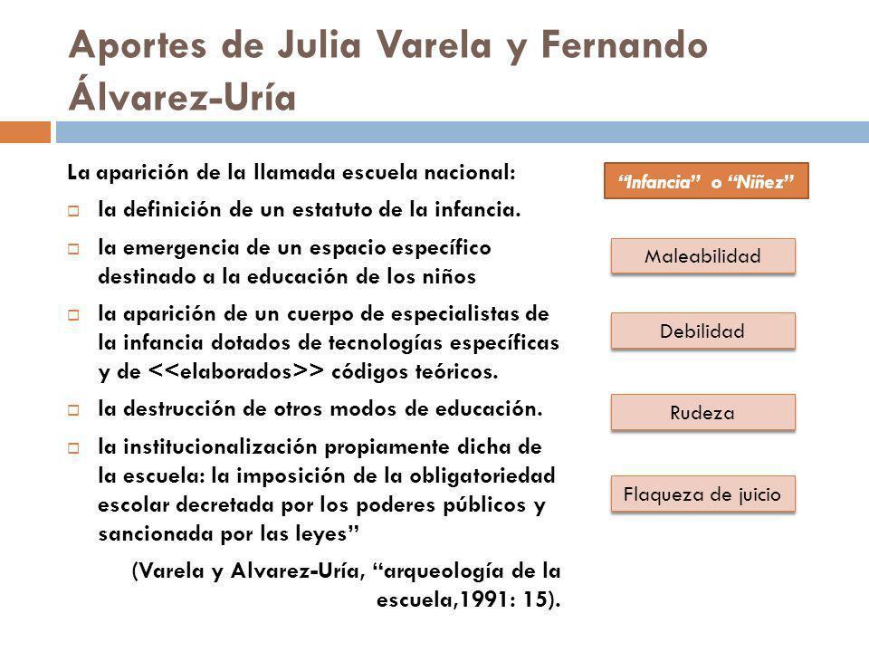Aportes de Julia Varela y Fernando Álvarez-Uría