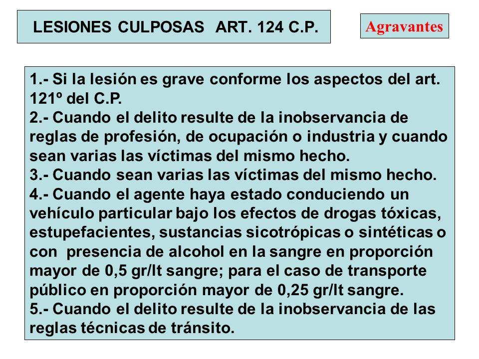 LESIONES CULPOSAS ART. 124 C.P.