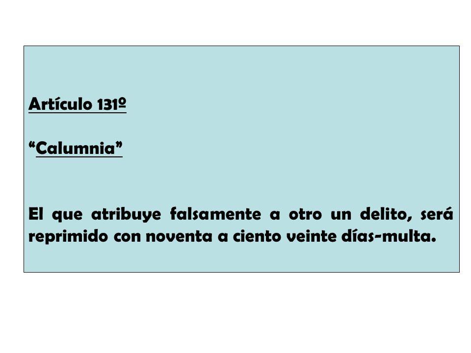 Artículo 131º.