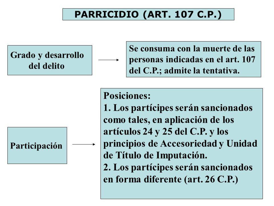 2. Los partícipes serán sancionados en forma diferente (art. 26 C.P.)