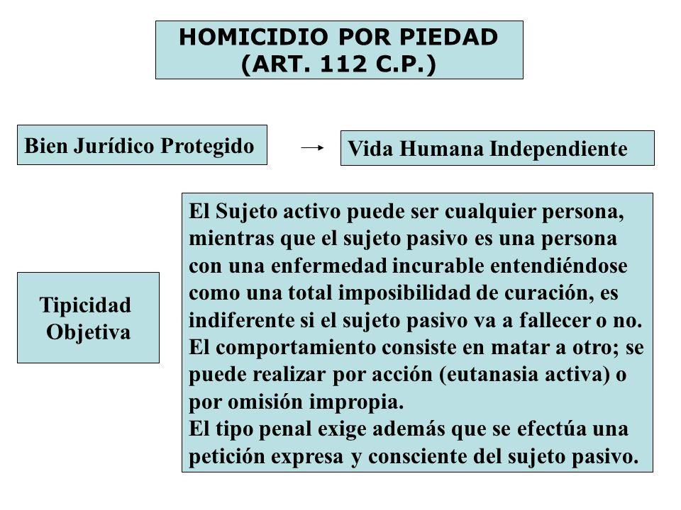 HOMICIDIO POR PIEDAD (ART. 112 C.P.)