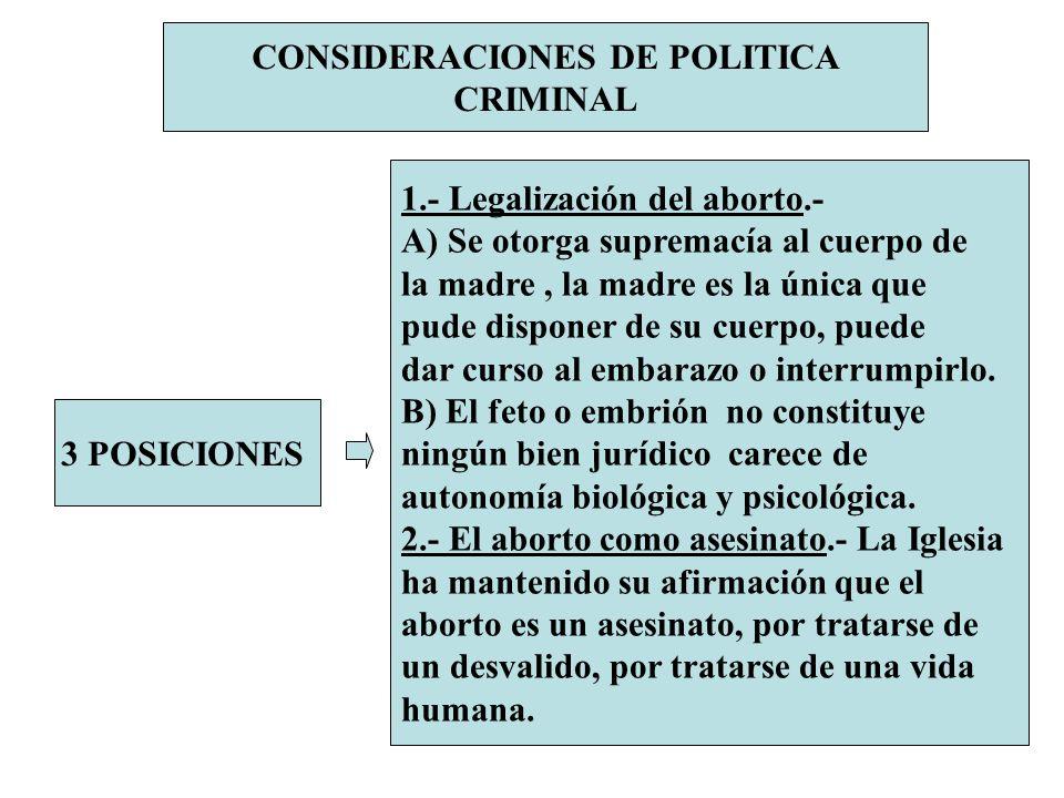 CONSIDERACIONES DE POLITICA CRIMINAL