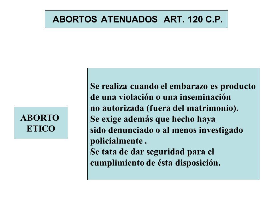 ABORTOS ATENUADOS ART. 120 C.P.