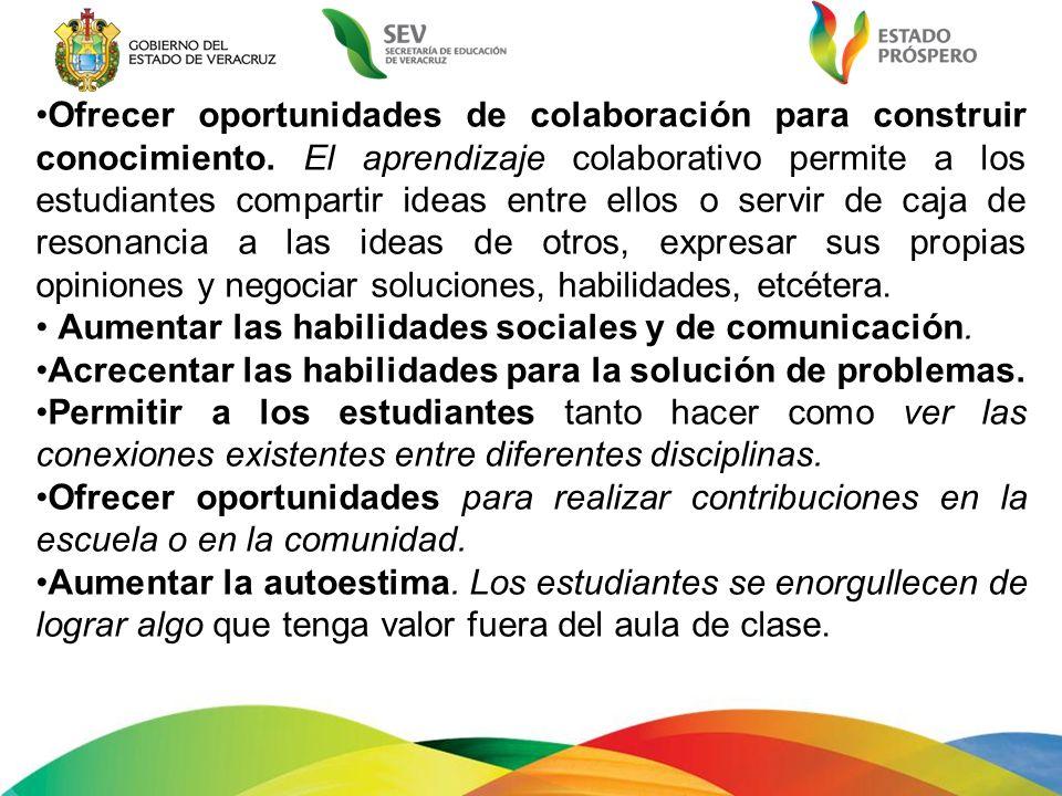 Ofrecer oportunidades de colaboración para construir conocimiento
