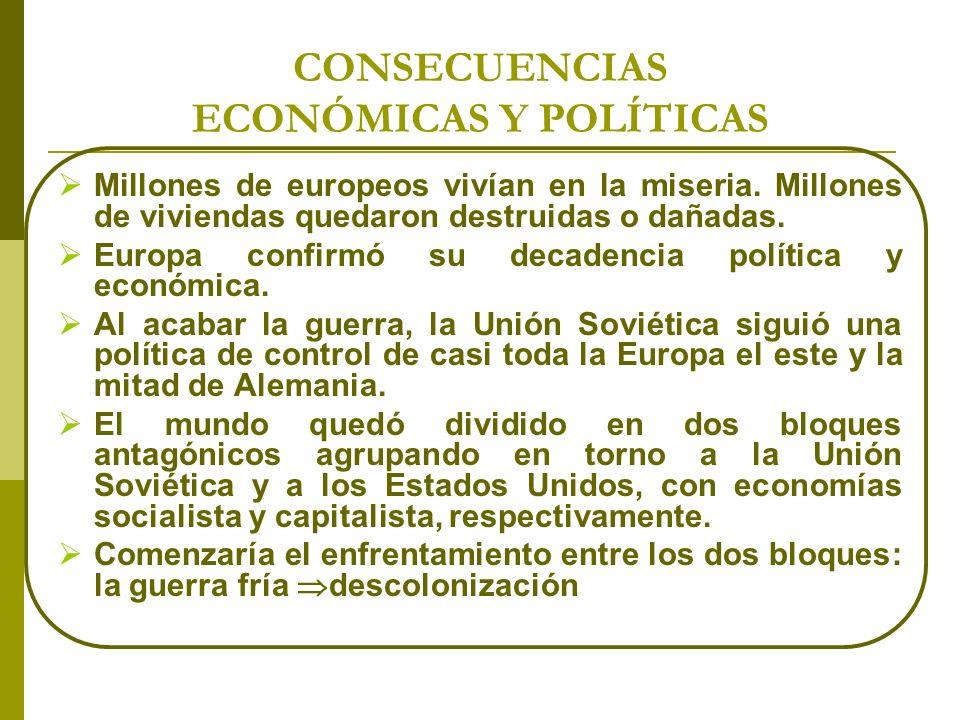 CONSECUENCIAS ECONÓMICAS Y POLÍTICAS
