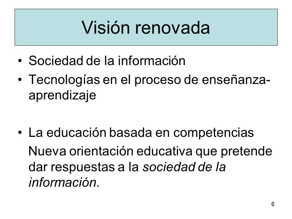 Visión renovada Sociedad de la información
