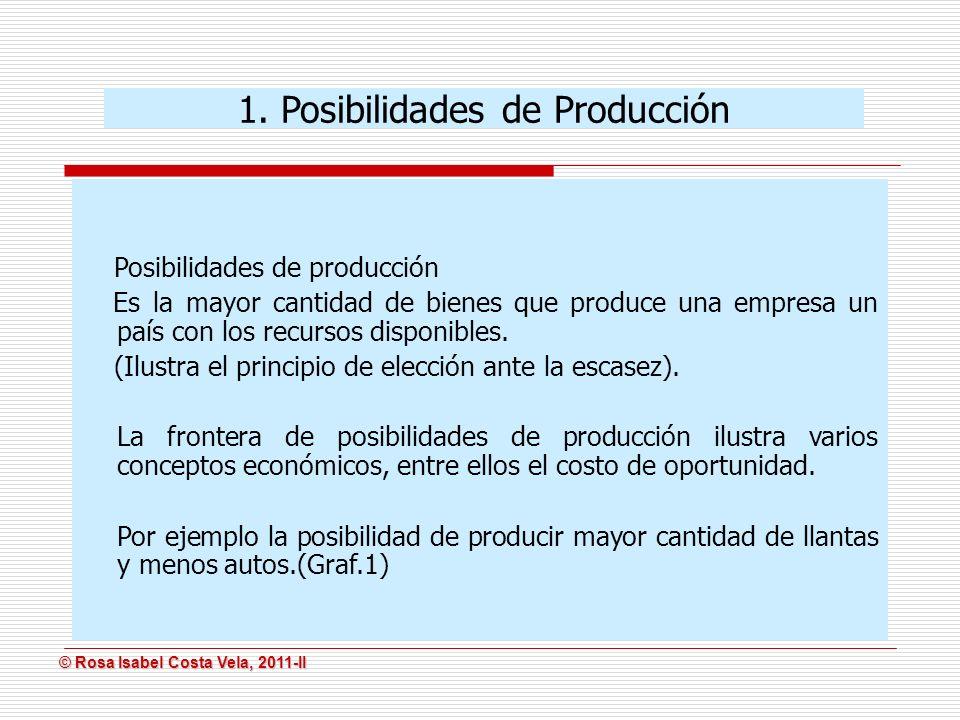 1. Posibilidades de Producción