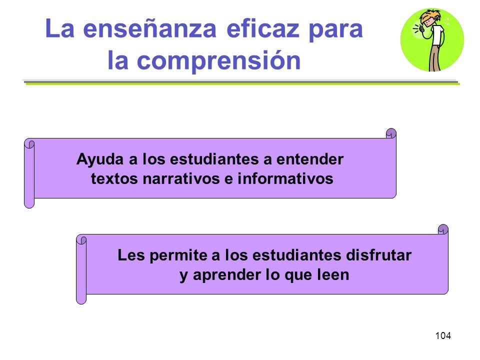 La enseñanza eficaz para la comprensión