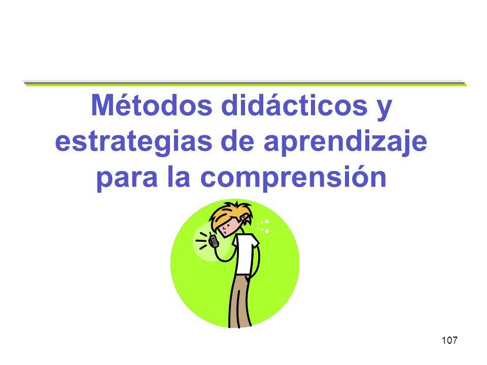 Métodos didácticos y estrategias de aprendizaje para la comprensión