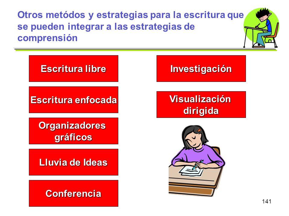 Otros metódos y estrategias para la escritura que se pueden integrar a las estrategias de comprensión