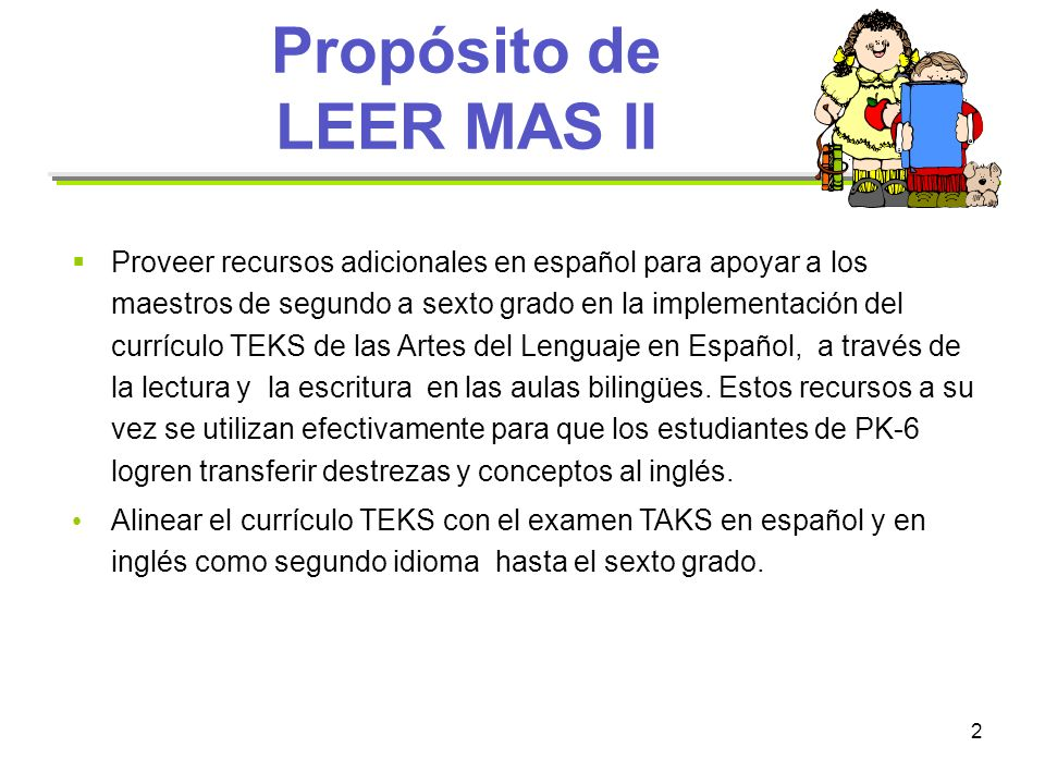 Propósito de LEER MAS II