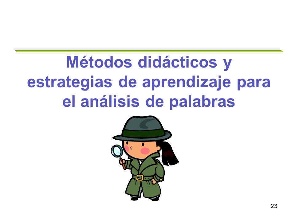 Métodos didácticos y estrategias de aprendizaje para el análisis de palabras