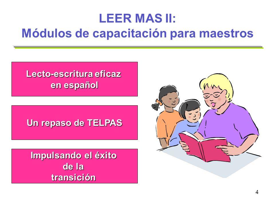 LEER MAS II: Módulos de capacitación para maestros