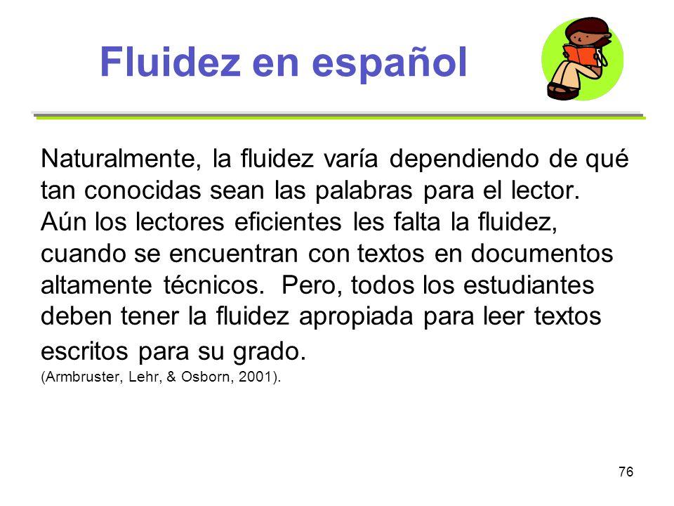 Fluidez en español