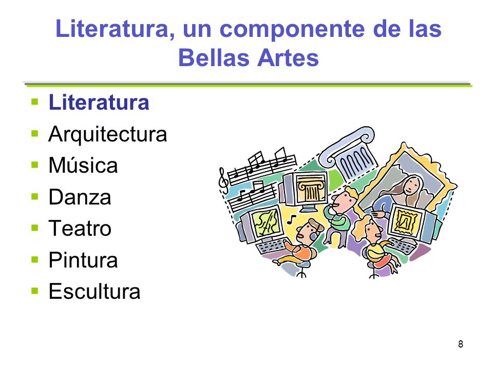 Literatura, un componente de las Bellas Artes