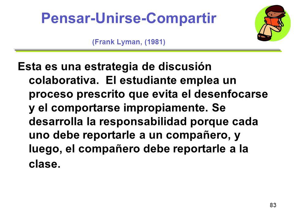 Pensar-Unirse-Compartir (Frank Lyman, (1981)