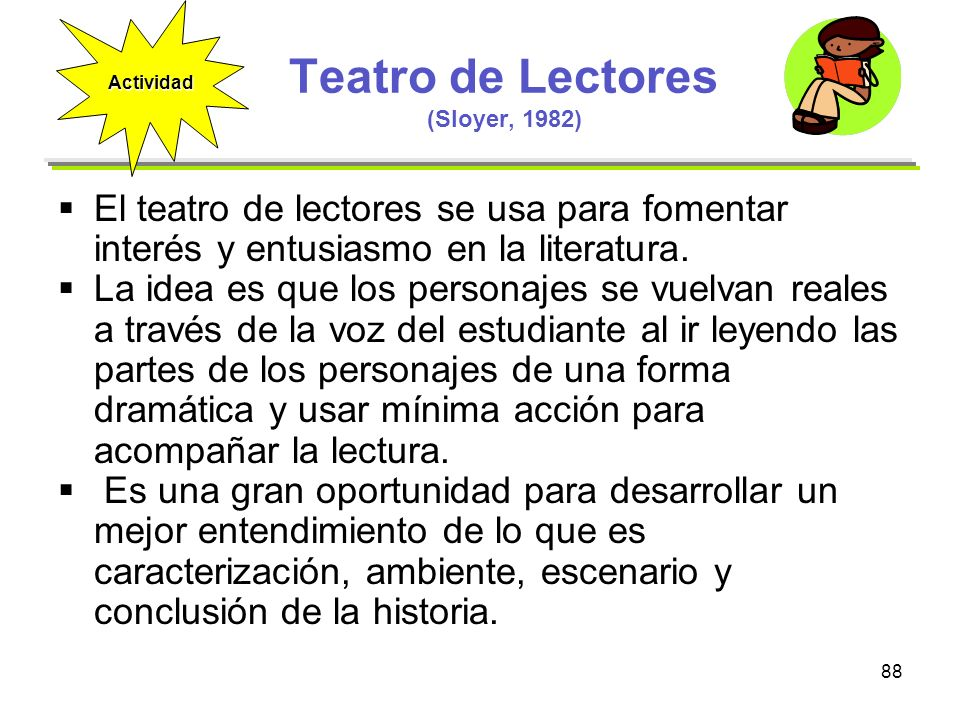 Teatro de Lectores (Sloyer, 1982)