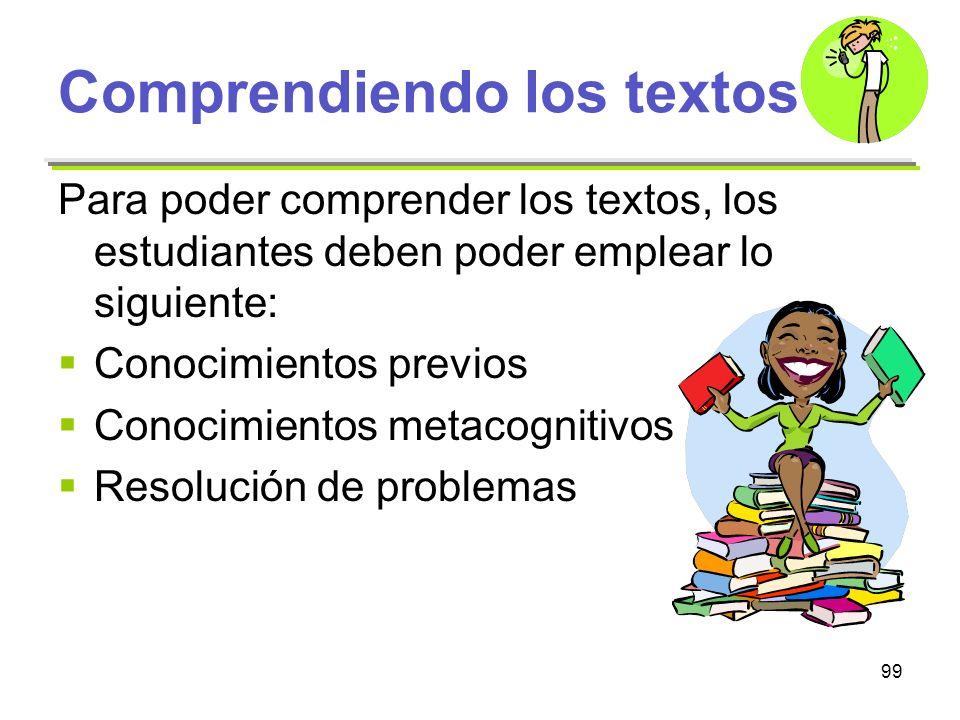 Comprendiendo los textos