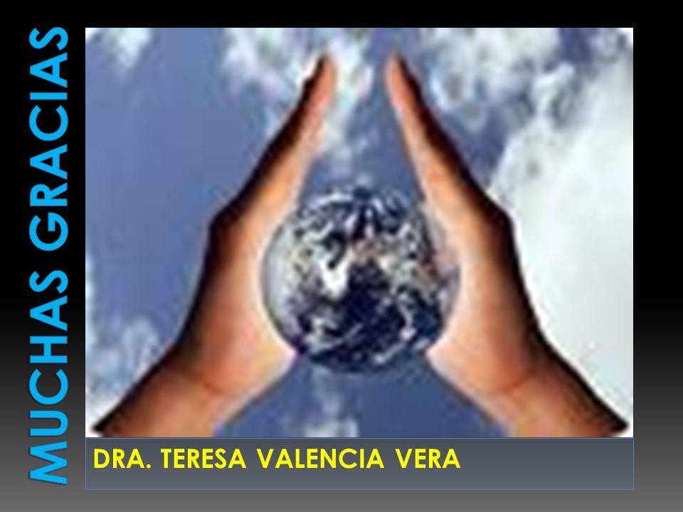 MUCHAS GRACIAS DRA. TERESA VALENCIA VERA