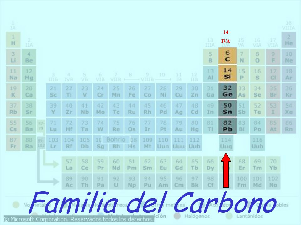 14 IVA Familia del Carbono