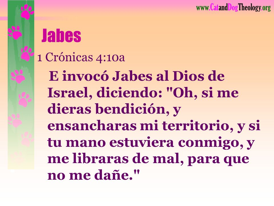 Jabes 1 Crónicas 4:10a.