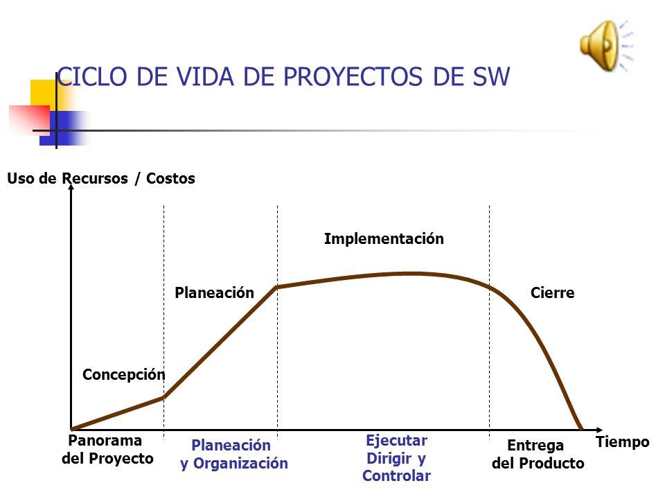 CICLO DE VIDA DE PROYECTOS DE SW