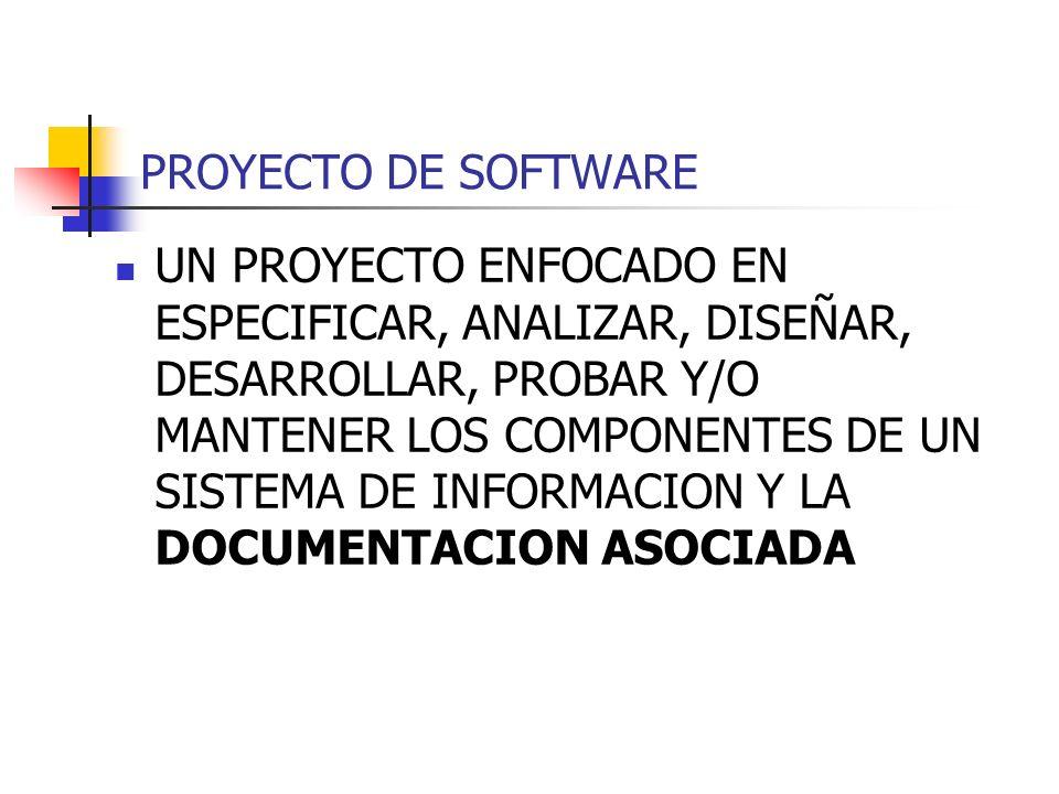 PROYECTO DE SOFTWARE