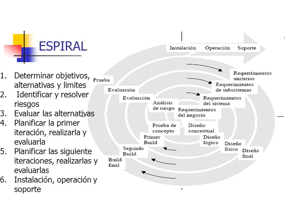 ESPIRAL Determinar objetivos, alternativas y limites